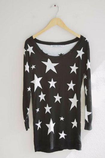 Suéter con estrellas