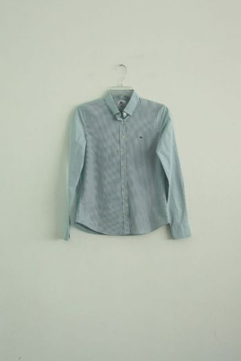 Camisa rayas verde blanco