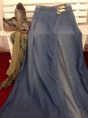 4759cedca Maxi falda de mezclilla - GoTrendier - 269320