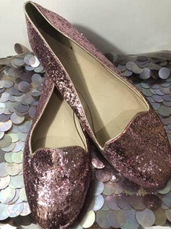 Flats diamantina rosa