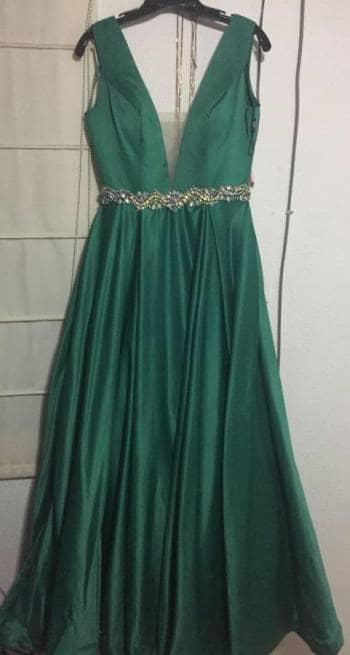 Vestido Largo De Fiesta Verde Esmeralda