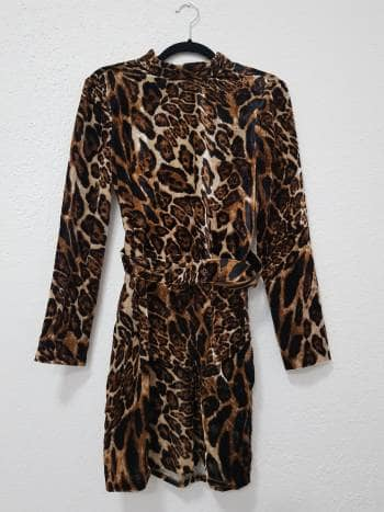 Vestido lepard print