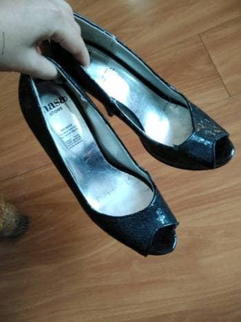 Zapatillas lentejuela negra