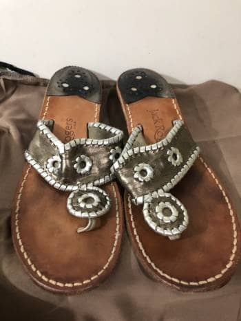 Sandalias de piel metalizadas