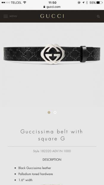 Cinturon Gucci Original Talla 85 34 - GoTrendier - 131701 a2e2c99bf58