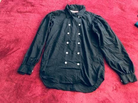Camisa negra vintage