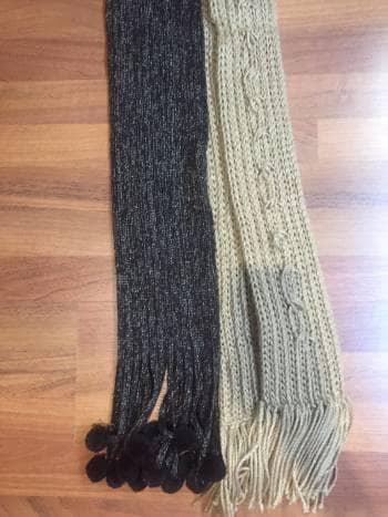 mejor baratas 5b5ff 766f1 Pack2 bufandas de estambre y barbillas