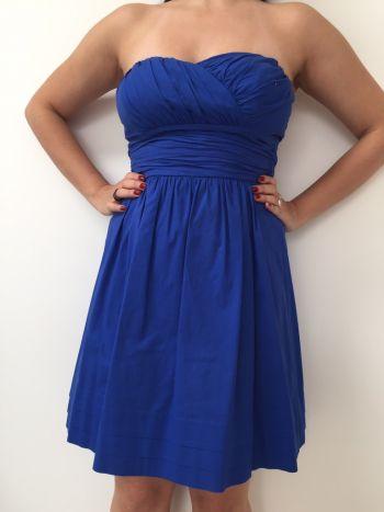 ed955db4f Vestido strapless azul - GoTrendier - 48342