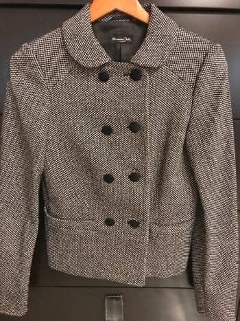 Elegante Saco Massimo Dutti tipo tweed NUEVO