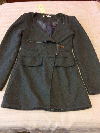 Abrigo-Saco gris