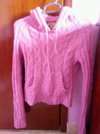 Suéter tejido rosa Abercrombie & Fitch