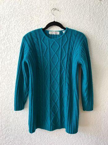 Suéter vintage tejido