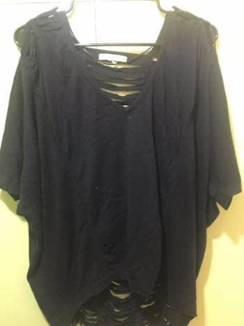 Blusa dama negra Bcbg