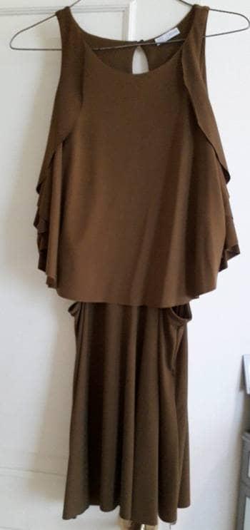 Vestido zara color café
