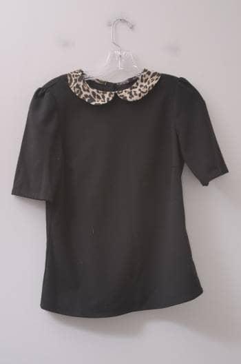 Blusa negra con print
