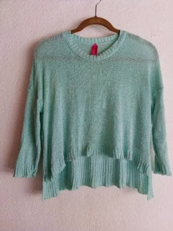 Sueter/blusa color menta de estambre.