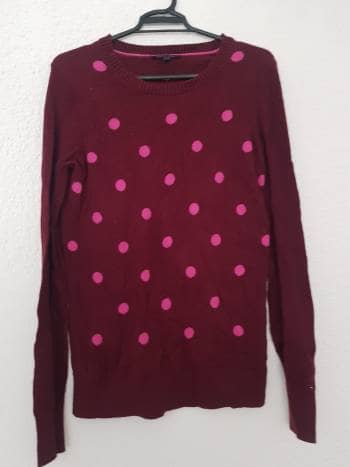 Suéter color vino con lunares Tommy Hilfiger