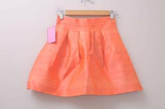 Minifalda bandage naranja