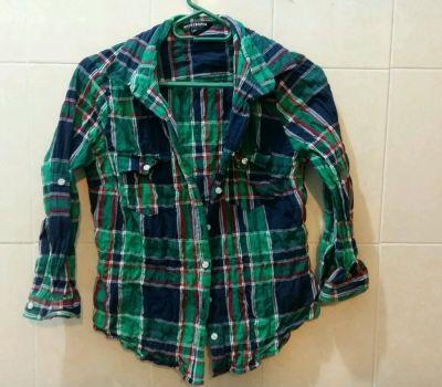 Camisa cuadros verde 2x200