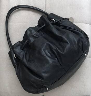 Furla Black Leather Big Hobo