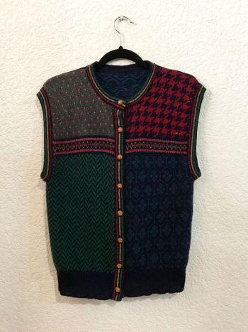 Chaleco vintage tejido