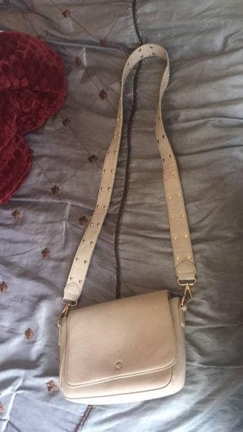 Bolsa Mariconera Cross Body Nude dorado