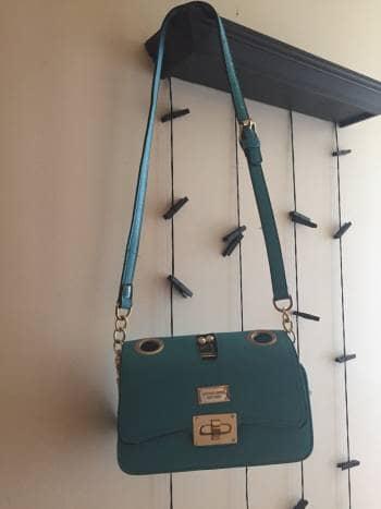 Bolsa pequeña azul turquesa