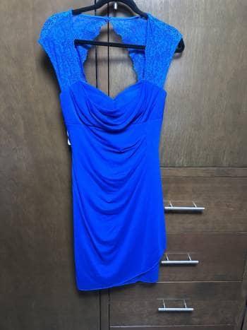 Vestido corto azul rey - GoTrendier - 520795 6245b577e21d3