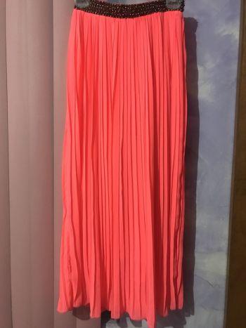 Maxi falda rosa