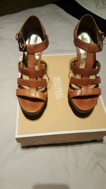 Wedges Michael Kors Piel y Brillo