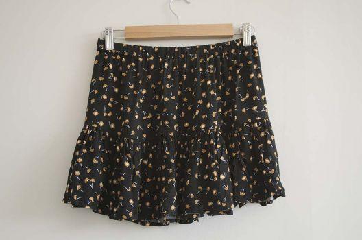 Falda mini estampada
