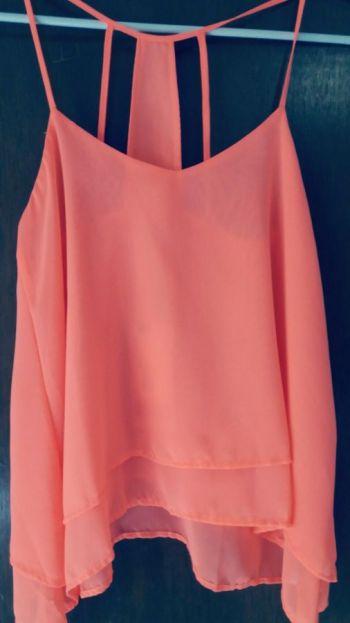 Blusa Naranja Vibrante