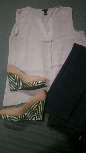 Blusa lila sin mangas H&M 2 x $250