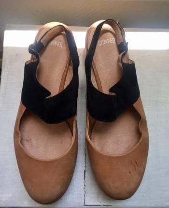 Zapatos camper miel plataforma