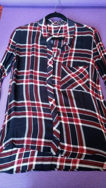 Camisa de cuadros Bershka