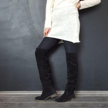 Bota plana caña alta XL (Original Leather)