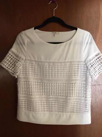 Blusa encaje blanca