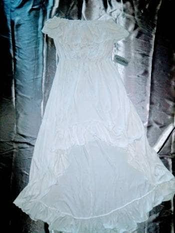 28f6cf1fc Vestido de algodón BLANCO campesino cola de pato - GoTrendier - 546487