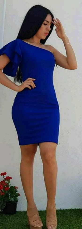 Imagenes de vestido azul corto