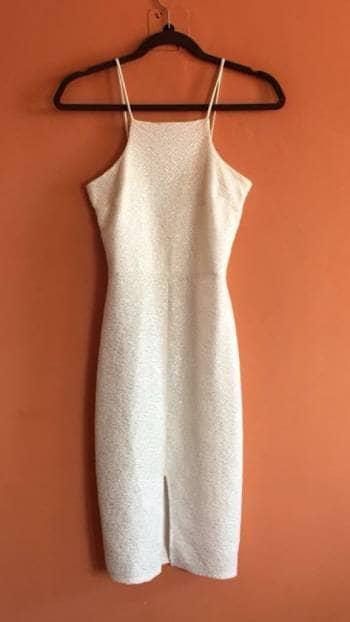 c5ea37966b5d Vestido corte lapiz color blanco - GoTrendier - 833048