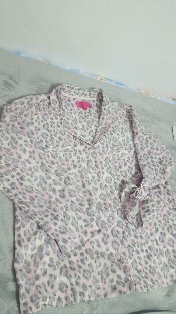 Pijama tipo franela manga larga