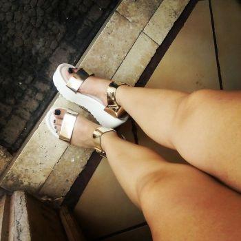 Sandalias mossimo con plataforma