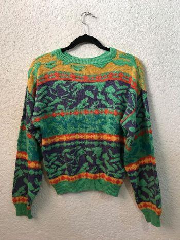 Suéter vintage colorido