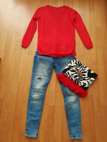Sweter rojo punto