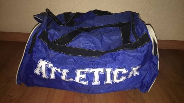 Maleta Atletica Azul, ideal para el gym! Nueva