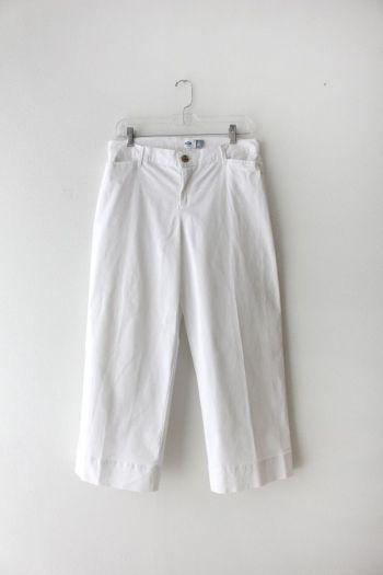 Pantalón blanco recto