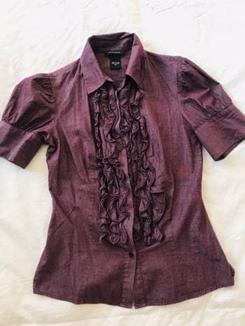 Camisa de mujer tipo victoriana