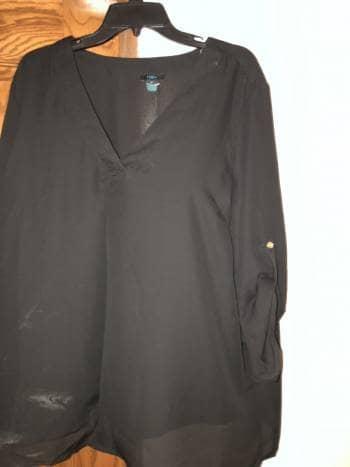 Camisa holgada negra