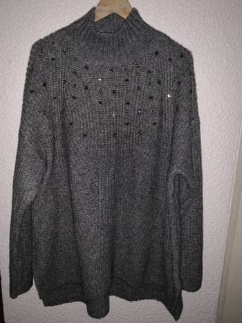 Suéter gris, talla XL, Land Bryant